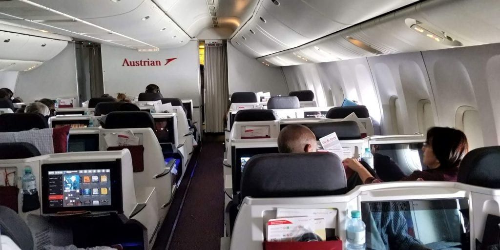 Review Austrian Airlines Business Class Langstrecke