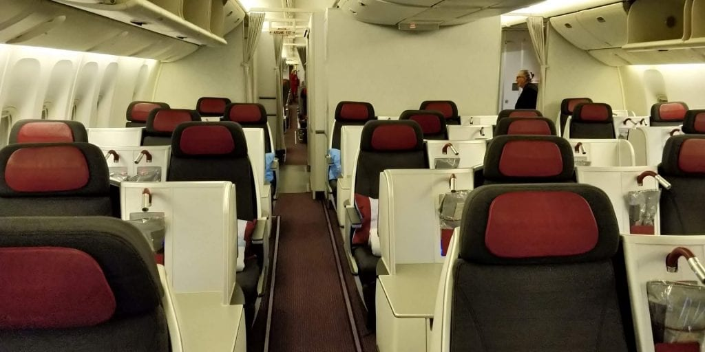 Austrian Airlines Business Class Boeing 777 Reihen
