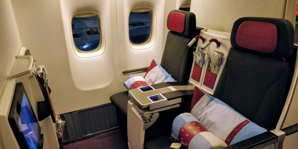 Austrian Airlines Business Class Boeing 777 Kleine Kabine