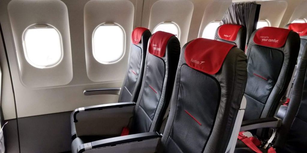 Austrian Airlines Business Class Kurzstrecke A320 Bulkhead Sitze