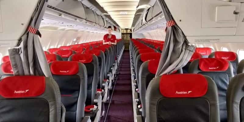 Austrian Airlines Business Class Kurzstrecke A320 Sitzreihen