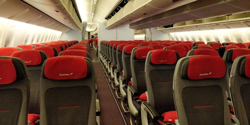 Austrian Airlines Economy Class Boeing 777