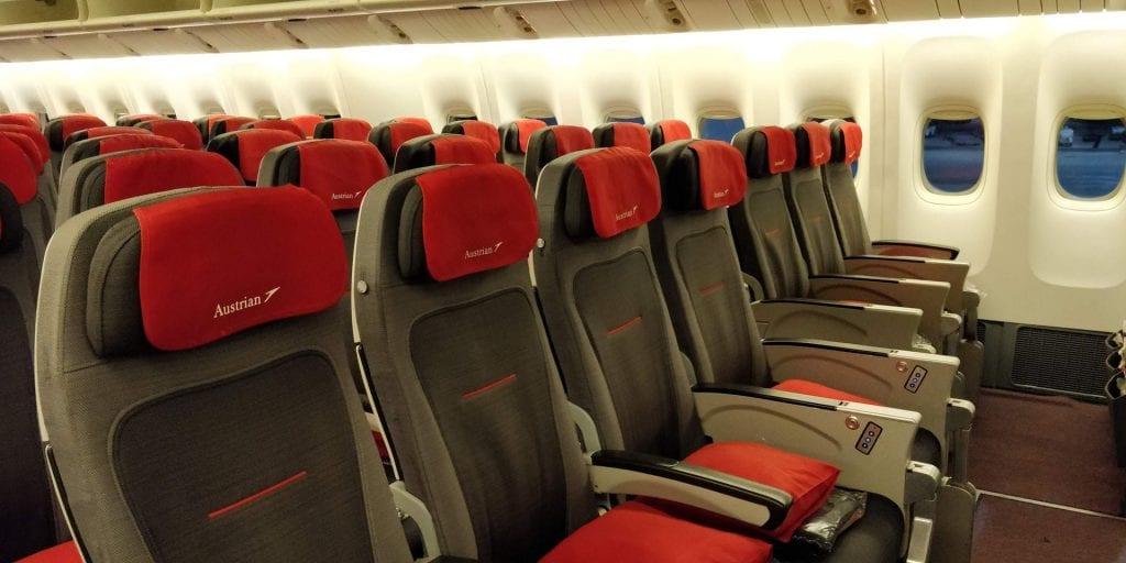 Austrian Airlines Economy Class Boeing 777 Mittelsitze