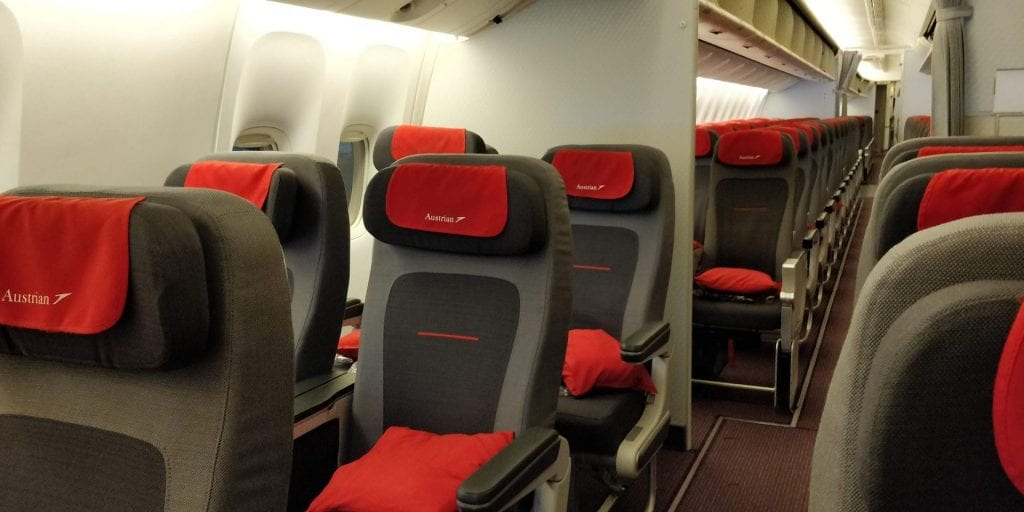 Austrian Airlines Premium Economy Class Boeing 777