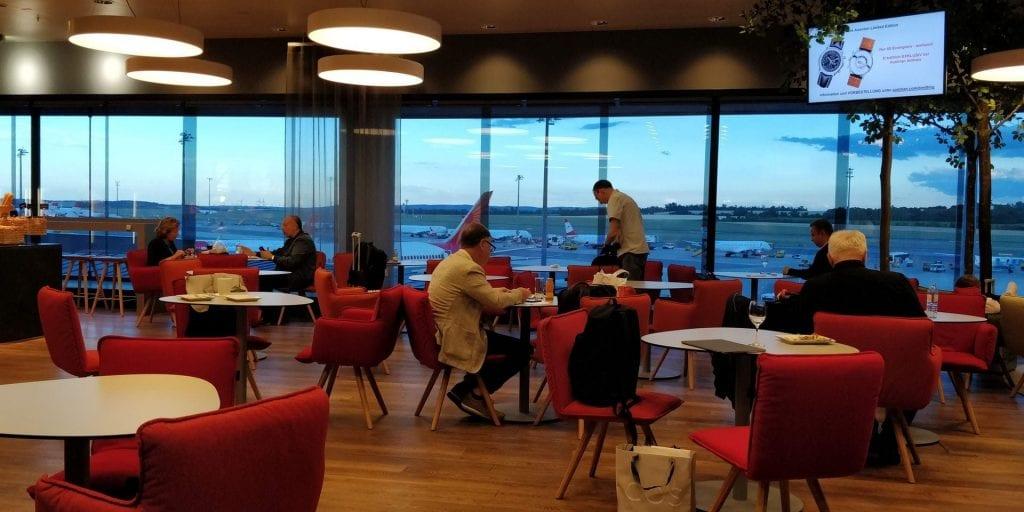 Austrian Airlines Senator Lounge Wien Non Schengen Raum Eingang
