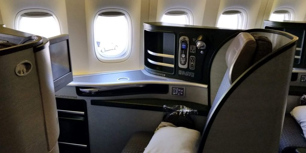 Eva Air Business Class Boeing 777 Einzelsitz Fenster