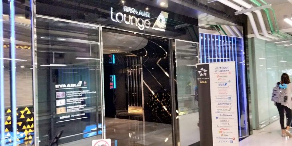 Eva Air Lounge Bangkok Eingang