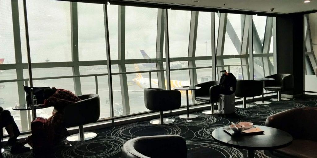 Eva Air Lounge Bangkok Sessel Ausblick