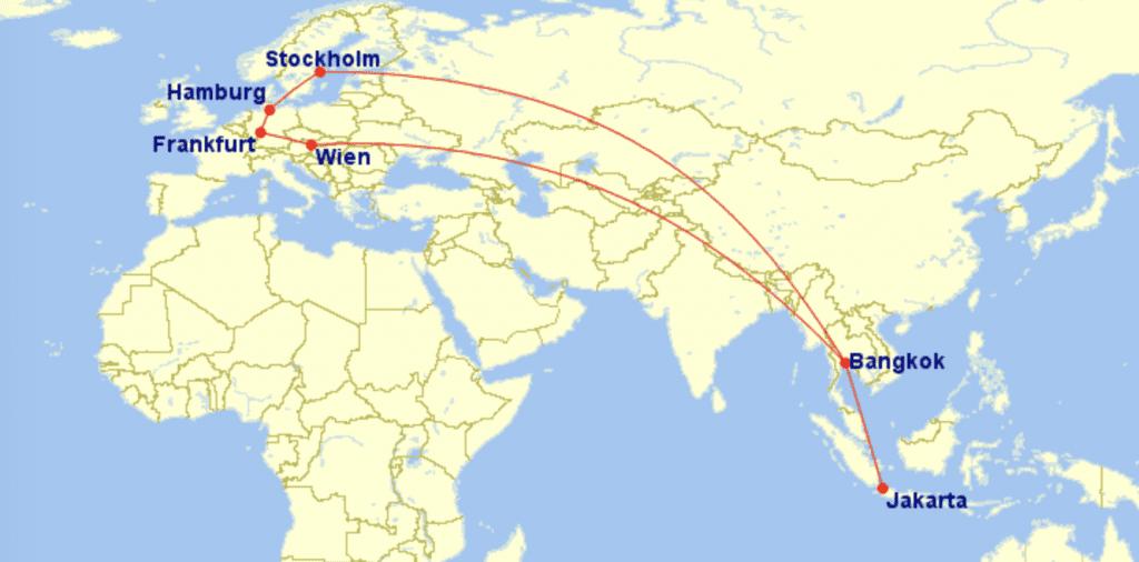 Moritz Route Anreise Indonesien
