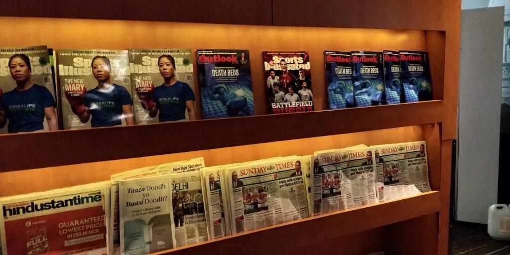 Plaza Premium Lounge Delhi Zeitschriften