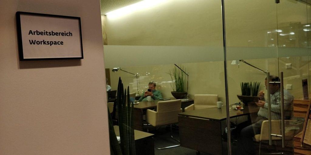 SKY Lounge Wien Arbeitsbereich