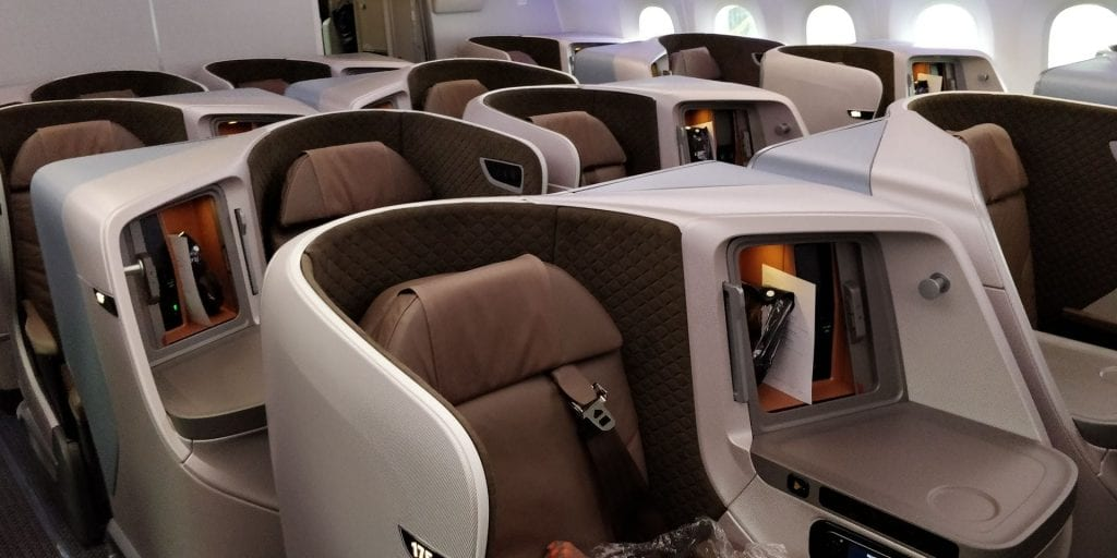 Singapore Airlines Business Class Boeing 787 10 Kabine