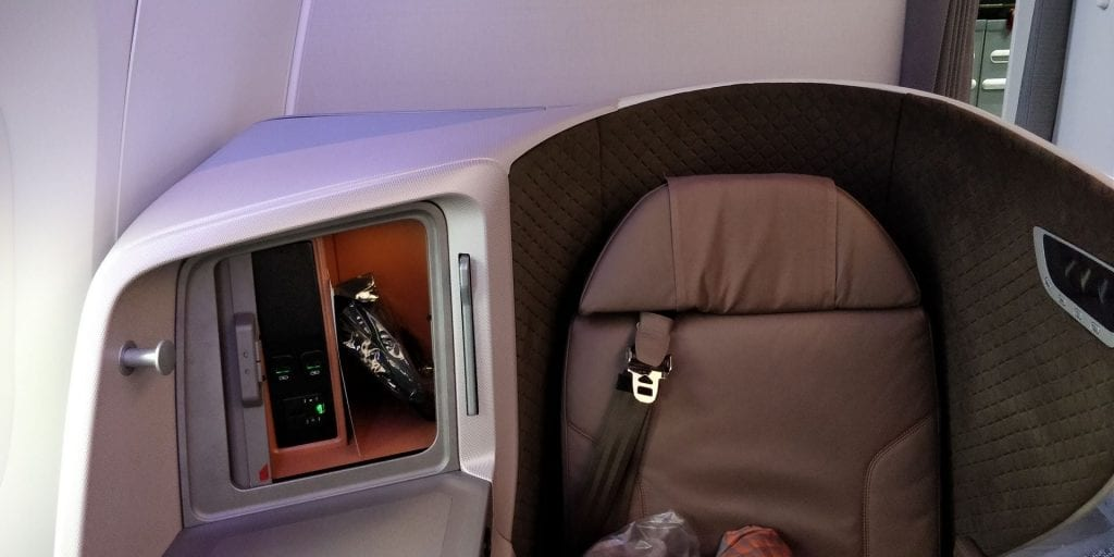 Singapore Airlines Business Class Boeing 787 10 Sitz