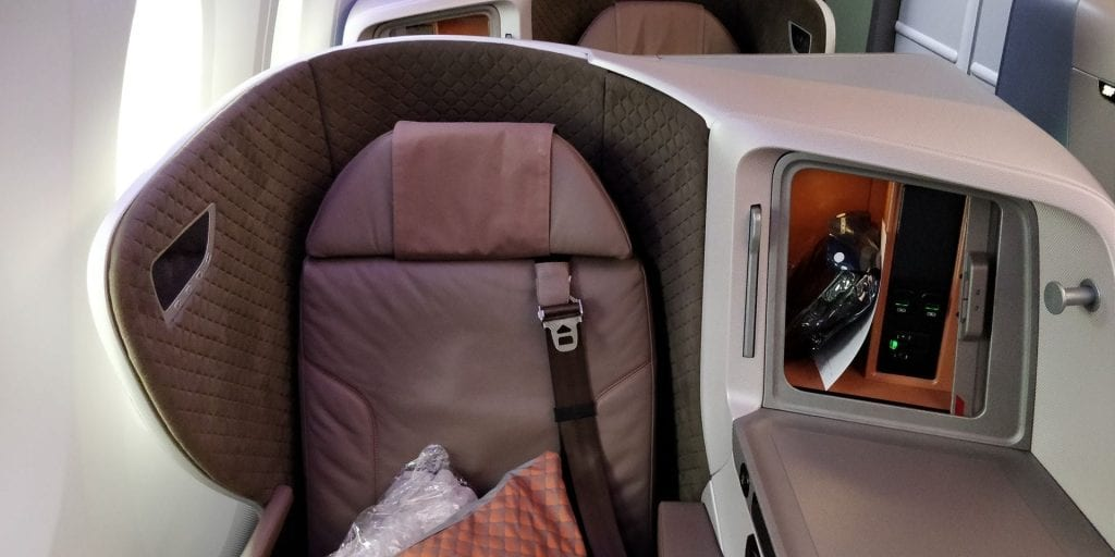 Singapore Airlines Business Class Boeing 787 10 Sitz 2