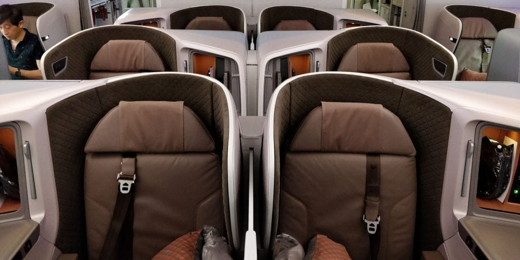 Singapore Airlines Business Class Boeing 787 10 Sitz 3