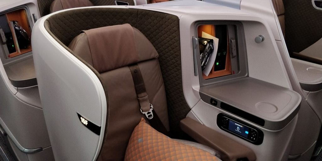 Business Class bei Singapore Airlines