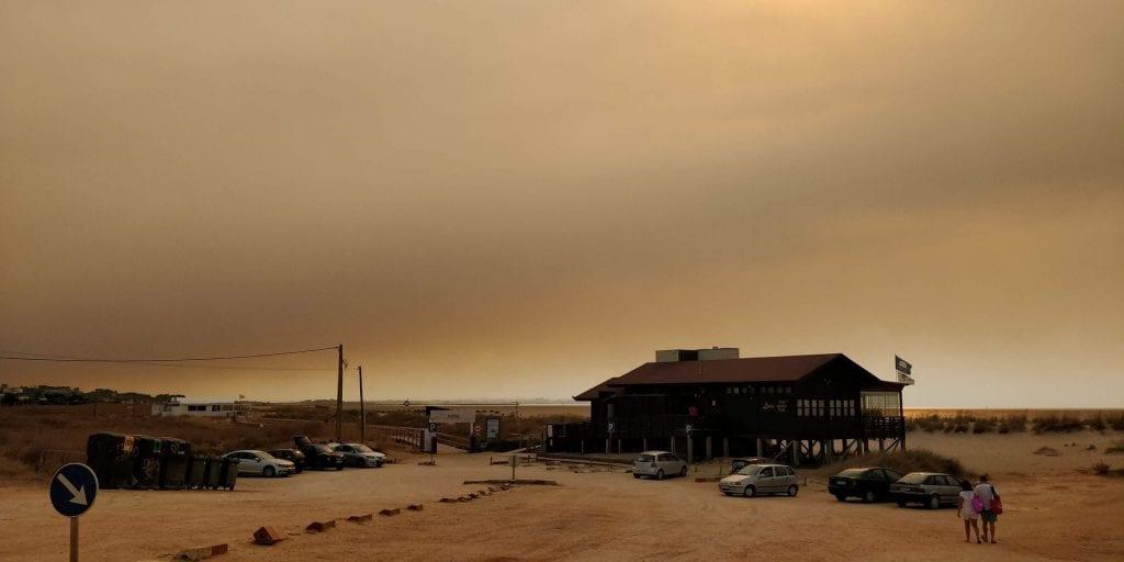 Waldbrand Portugal Algarve