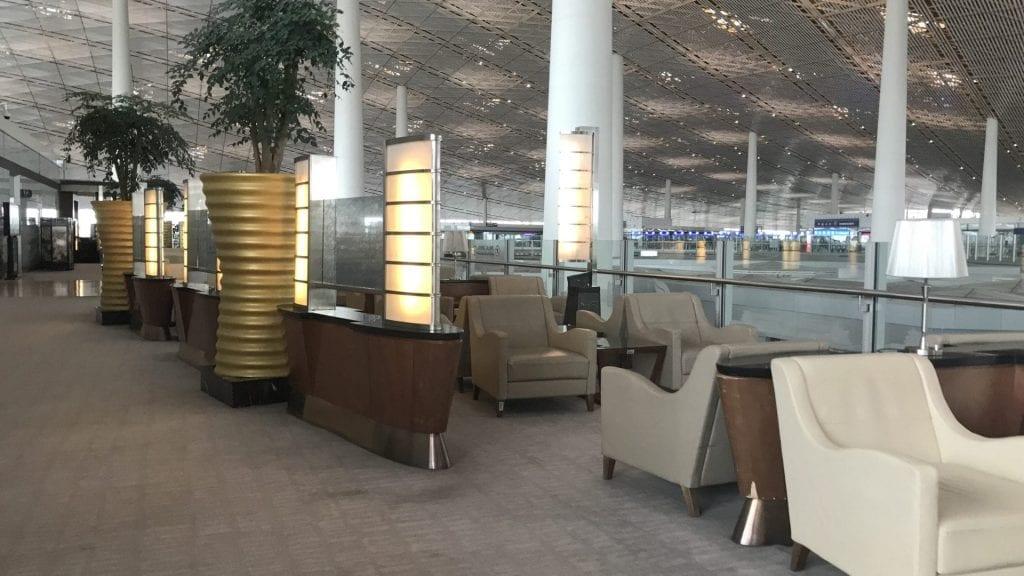 Air China First Class Lounge Peking Sessel