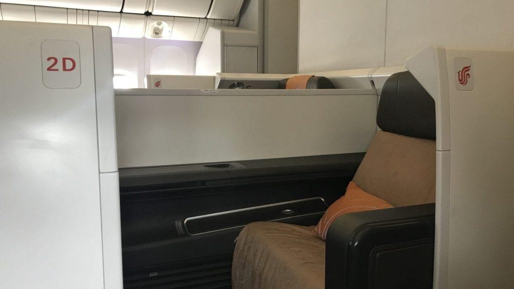 Air China First Class Sitz Privatsphäre