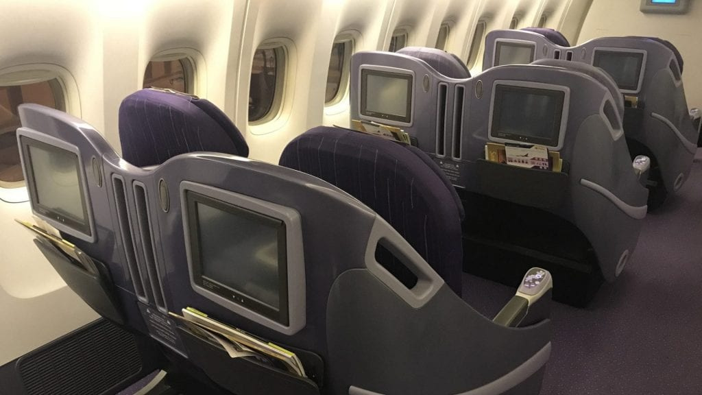 Thai Airways Business Class Boeing 777 Regional Sitze 3