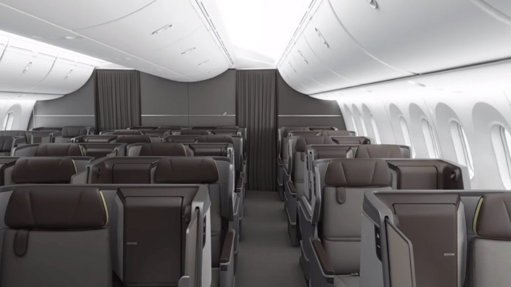 EVA Air Business Class Dreamliner Kabine