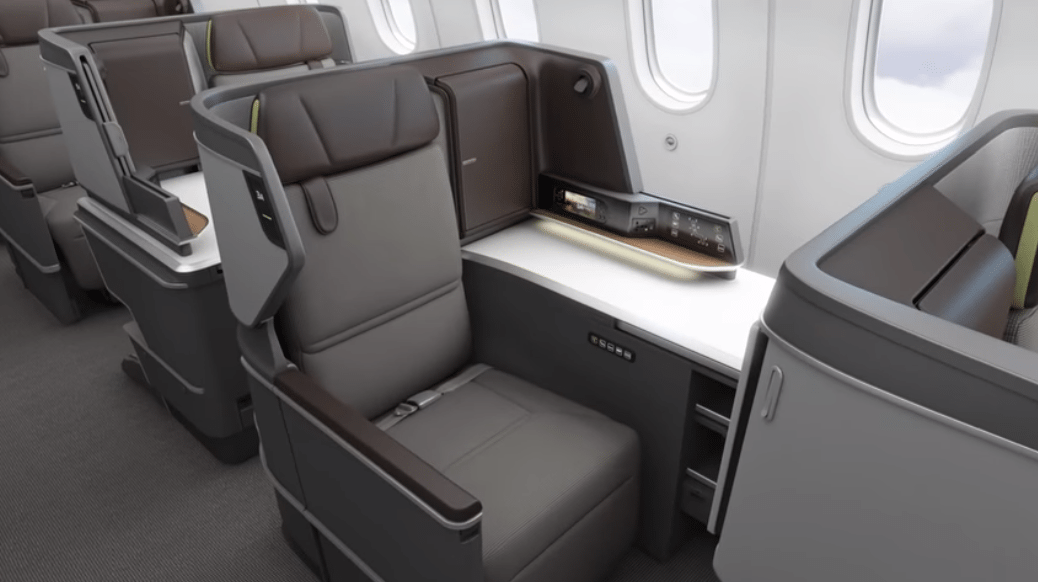 EVA Air Business Class Dreamliner Sitz