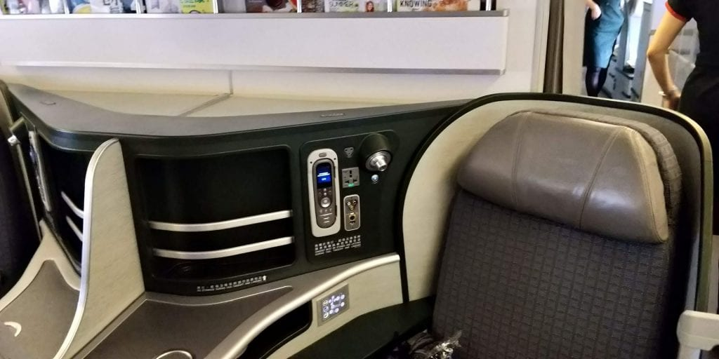 Eva Air Business Class Boeing 777 Bedienung