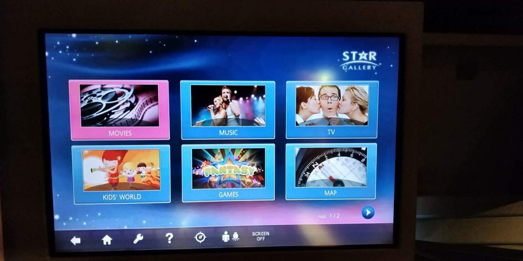 Eva Air Business Class Boeing 777 Entertainment 1