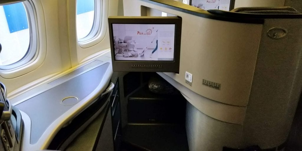 Eva Air Business Class Boeing 777 Entertainment Monitor
