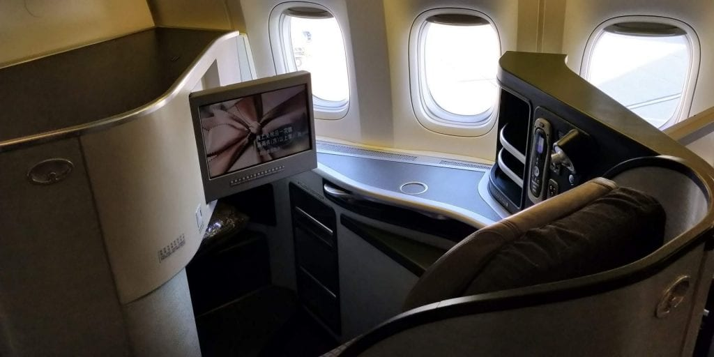 Eva Air Business Class Boeing 777 Fenstersitz 2
