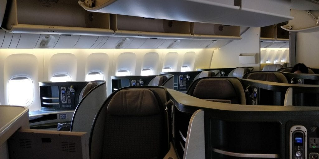 Eva Air Business Class Boeing 777 Kabine