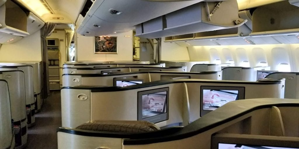 Eva Air Business Class Boeing 777 Große Kabine