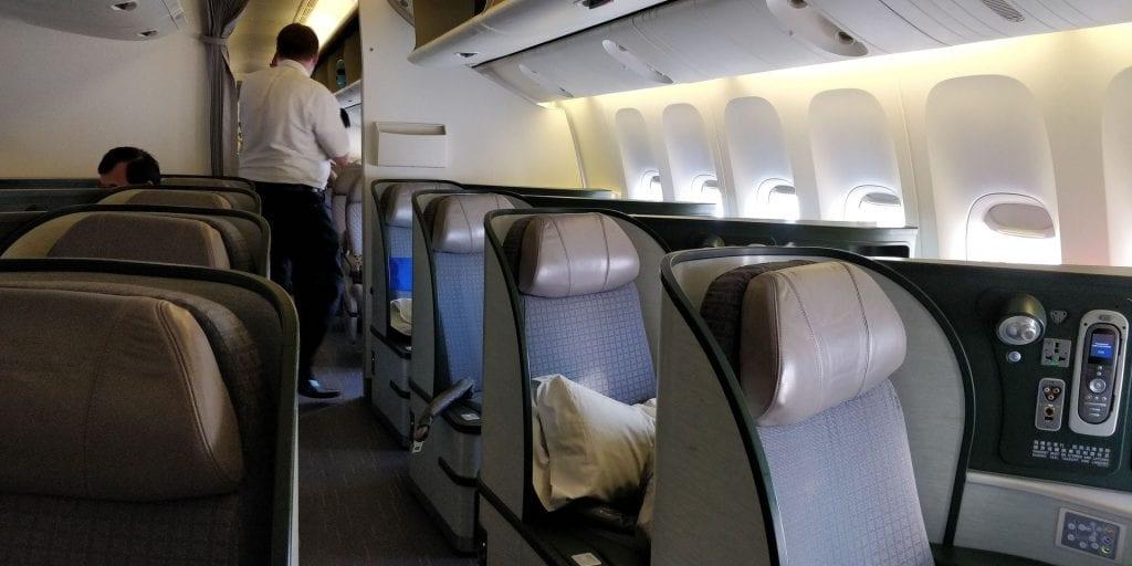 Eva Air Business Class Boeing 777 Kleine Kabine