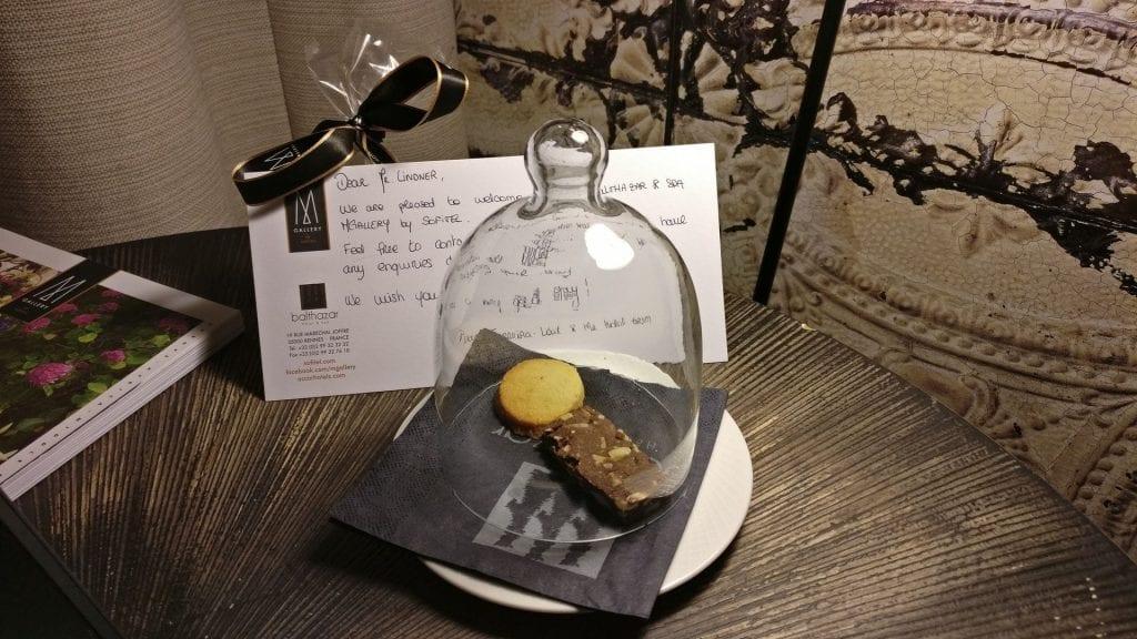 Hotel Balthazar Rennes Willkommensgeschenk
