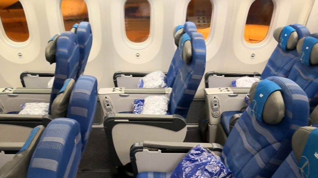 LOT Premium Economy Class Sitz