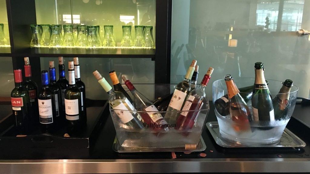 Pau Casals VIP Lounge Barcelona Getraenke