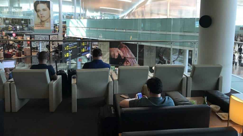 Pau Casals VIP Lounge Barcelona Sitze 1