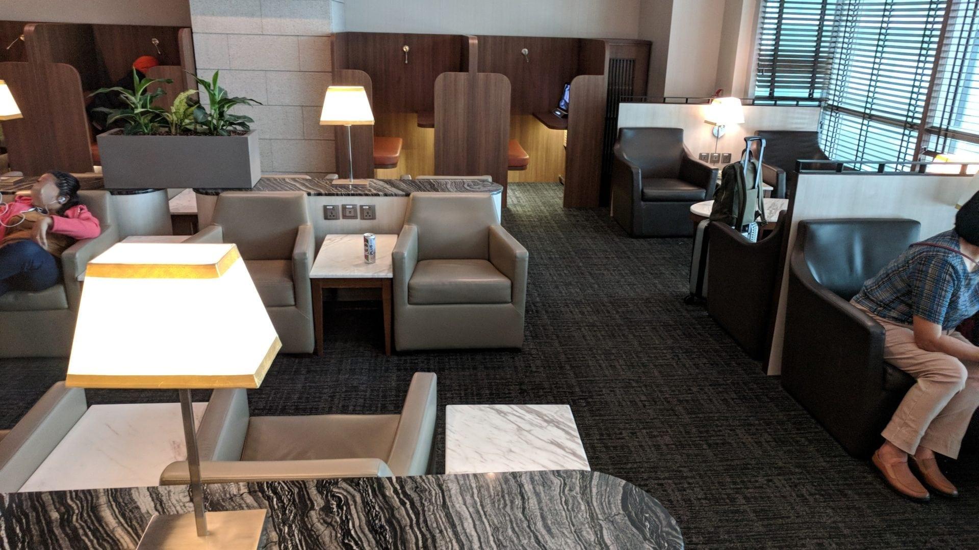 SATS Premier Lounge Singapur Sessel