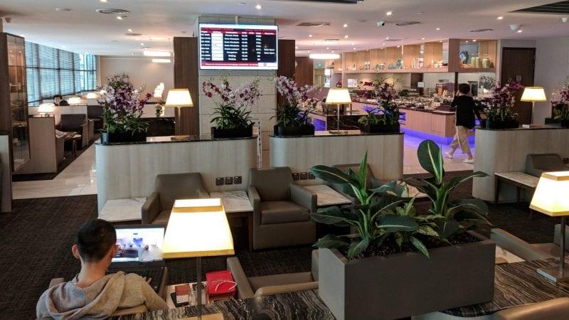 SATS Premier Lounge Singapur Sitze