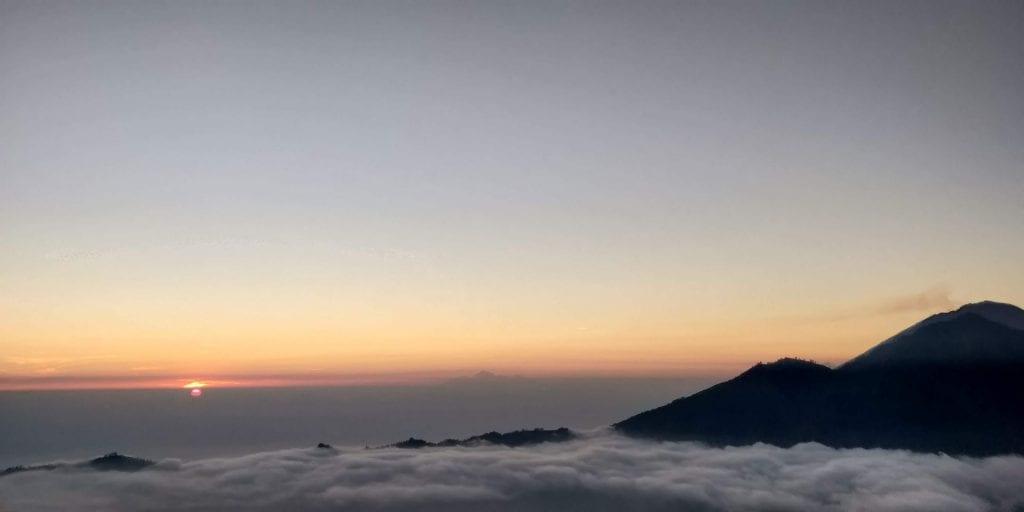 Sonnenaufgang Mount Batur Indonesien