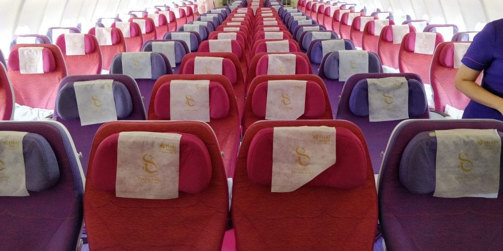 Thai Airways Economy Class Kurzstrecke