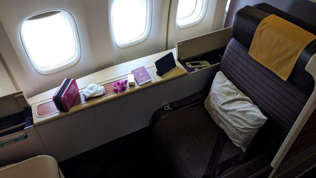 Thai First Class Boeing 747 Sessel