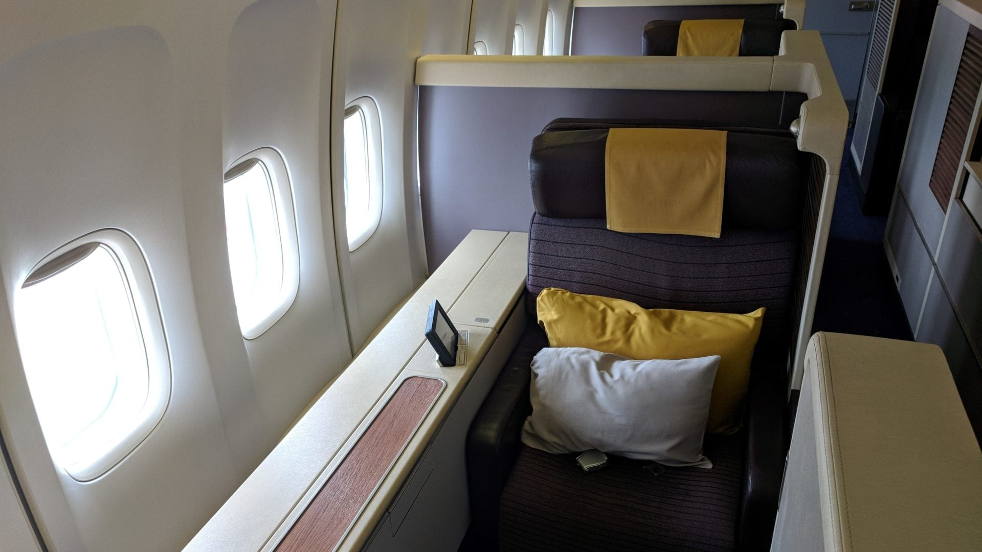 Thai First Class Boeing 747 Sitz