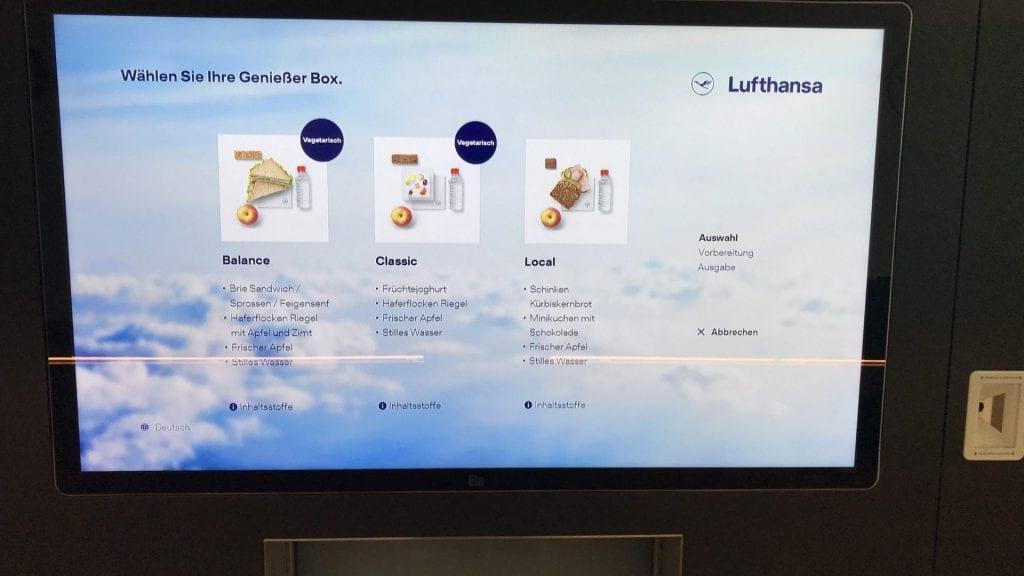 Lufthansa Delights To Go Auswahl
