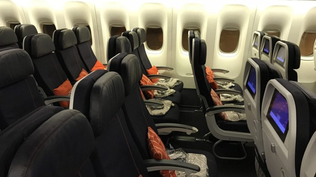 Air France Economy Class Langstrecke Sitz 2