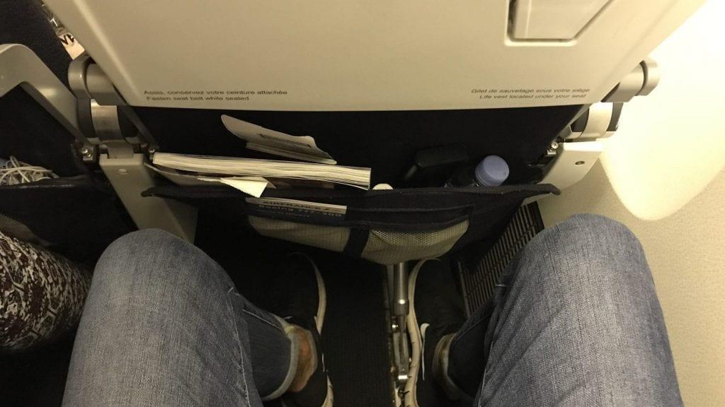 Air France Economy Class Langstrecke Sitzabstand