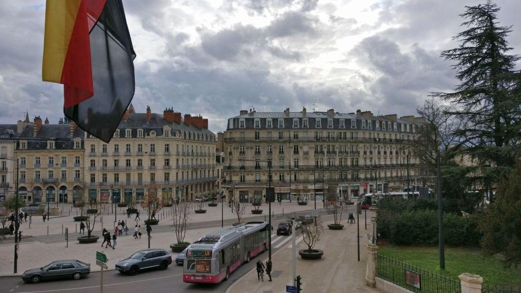 Grand Hotel La Cloche Dijon Superior Room Ausblick