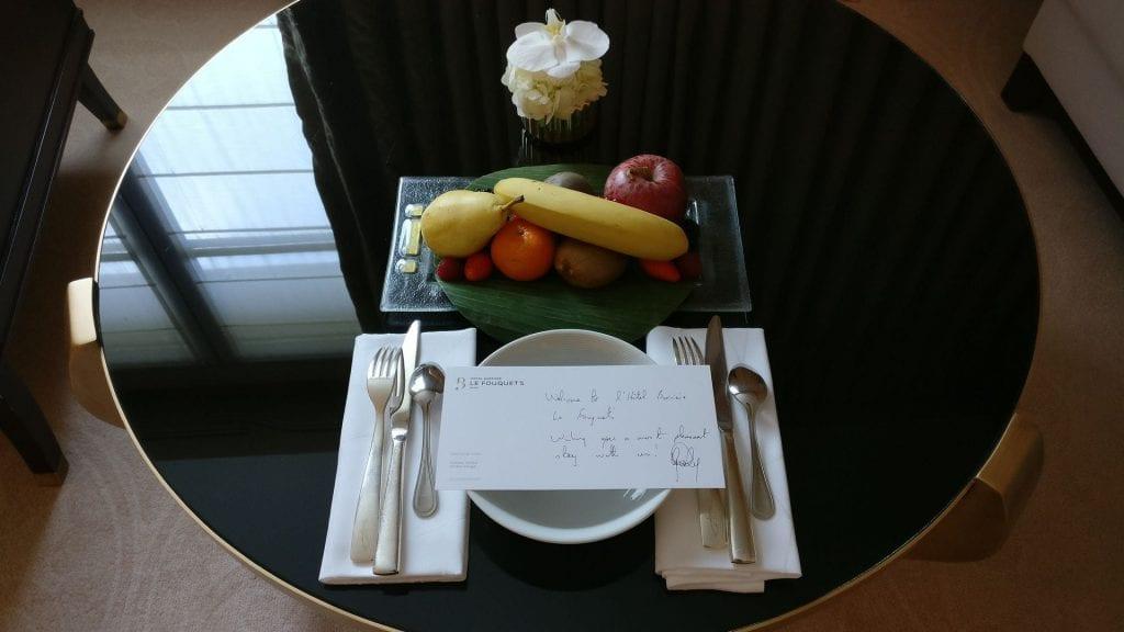Hotel Barriere Le Fouquet Paris Willkommensgeschenk