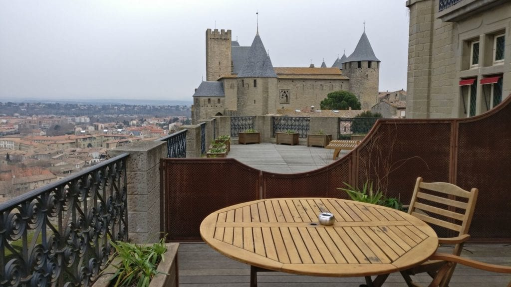 Hotel De La Cite Carcassonne Terrasse