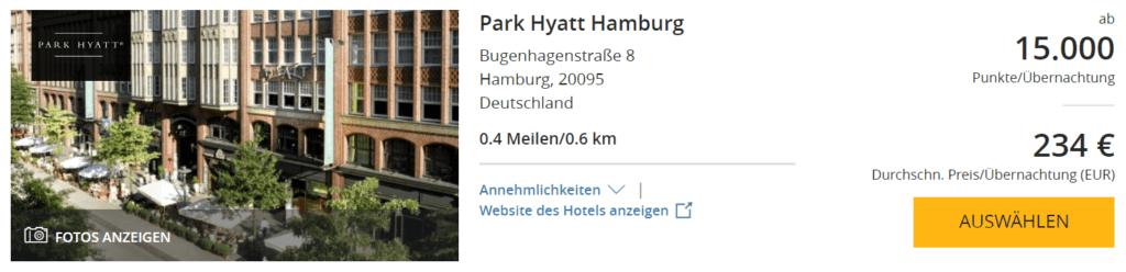 Park Hyatt Bangkok Einlösung